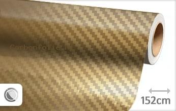 Goud chroom 3D carbon folie