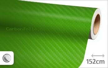 Groen 4D carbon folie