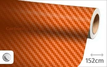 Oranje 3D carbonfolie