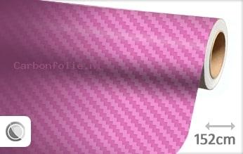 Roze 3D carbonfolie