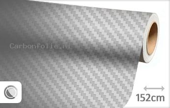Zilver 3D carbonfolie