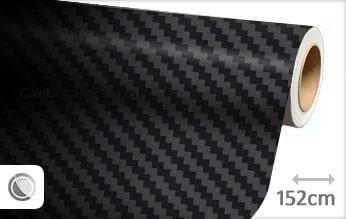 Zwart 3D carbon groot folie
